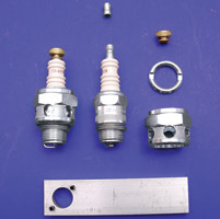 V-Twin Manufacturing Conversion Kit for Champion 18mm Spark Plugs