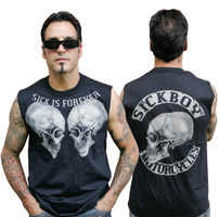 Sick Boy Men's Sick is Forever Black Sleeveless T-Shirt