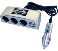 Eklipes Automotive Triple Socket 12-Volt Power Charging System