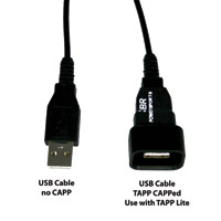 3BR Powersports TAPP CAPP Waterproof Cap For USB Cords