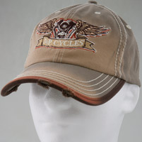 J&P Cycles® Flying V-Twin Distressed Hat