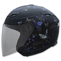 GMAX GM67 Butterfly Black and Purple Open Face Helmet
