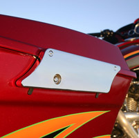 Klock Werks Saddlebag Latch Covers Smooth Chrome