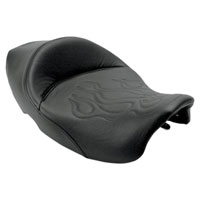 Saddlemen Tattoo Solo Seat with Black Flame Stitching
