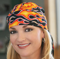 That's A Wrap Fired Up Orange Headwrap