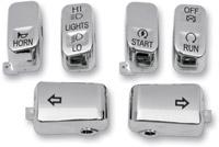 Drag Specialties 6-Piece Switch Cap Kit