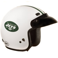 Brogies Bikewear NFL New York Jets White Open Face Helmet