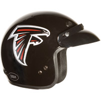 Brogies Bikewear NFL Atlanta Falcons Black Open Face Helmet