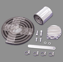 V-Twin Manufacturing Universal Oil Filter/Cooler Kit
