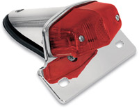 EMGO Lucas-Style Taillight w/ Chrome Bracket