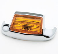 J&P Cycles® Front Fender Tip Light with Amber Lens