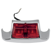 J&P Cycles® Rear Fender Tip Light with Red Lens