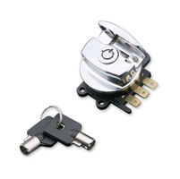 J&P Cycles® Chrome Side Hinge Ignition Switch