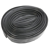 Black Shrink Tubing, 25′ Length, 3/4″ Shrink to 3/8″