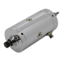 J&P Cycles® Prestolite Chrome Starter Motor Assembly