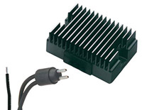 Finned Black Voltage Regulator