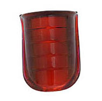 Red Glass Beehive Style Tail Light Lens