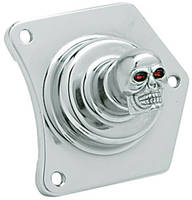 Custom Cycle Engineering Chrome Skull Solenoid Housing Switch