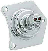 Custom Cycle Engineering Skull Solenoid Housing Switch
