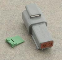 Deutsch 2- Pin Gray Plug Wiring Connector