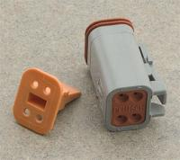 Novello Deutsch 4-Pin Gray Plug  Wiring Connector