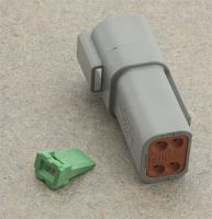 Novello Deutsch 4-Pin Gray Receptacle  Wiring Connector