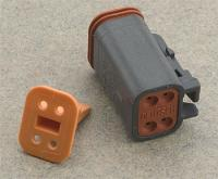 Novello Deutsch 4-Pin Black Plug  Wiring Connector