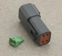 Novello Deutsch 4-Pin Black Receptacle  Wiring Connector
