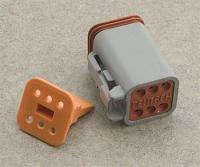 Novello Deutsch 6-Pin Gray Plug  Wiring Connector