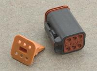 Novello Deutsch 6-Pin Black Wiring Plug  Wiring Connector