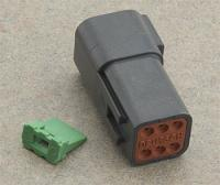 Novello Deutsch 6-Pin Black Receptacle  Wiring Connector