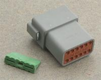 Novello Deutsch 12-Pin Gray Receptacle  Wiring Connector