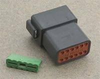 Novello Deutsch 12-Pin Black Receptacle  Wiring Connector