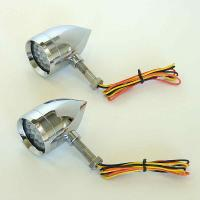 Lazer Star Micro B Point Halogen Turn Signals with Red Lenses