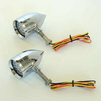 Lazer Star Micro B Point LED Turn Signals with Amber Lenses