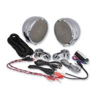 Rumble Road 46W Premium Chrome Speaker Kit With 1″ Clamps