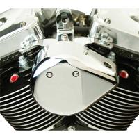 PB Choppers Chrome Cast Teardrop Coil Cover with Motor Mount
