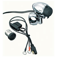 Kuryakyn Universal Handlebar Electrical Power Point
