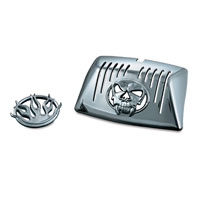 Kuryakyn Front Zombie and Flame Fender Lens Grill Emblems for Touring Models