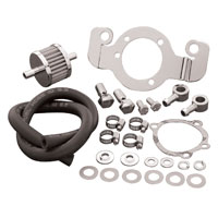 J&P Cycles® Support Bracket and Crankcase Breather Kit
