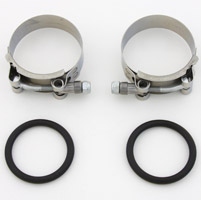 J&P Cycles® Heavy-duty Stainless Steel Intake Clamps