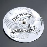 J&P Cycles® 'Live to Ride Ride to Live Eagle-Spirit' Air Cleaner Insert for Big Twin Models