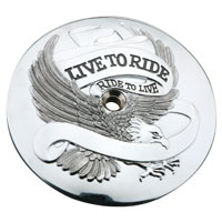J&P Cycles® 'Live to Ride' Air Cleaner Insert