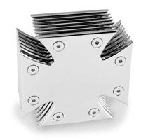 J&P Cycles® Chrome Plated Maltese Cross Air Cleaner