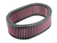K&N High Performance Replacement Air Filter for Oval Air Cleaners