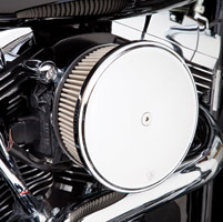 Arlen Ness Stage II SS Billet Sucker Kit for Twin Cam, Chrome Smooth Cover