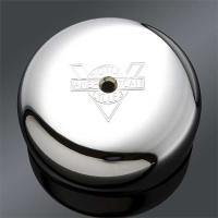 V-Twin Manufacturing V-Logo Air Cleaner Cover