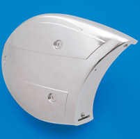 V-Twin Manufacturing Chrome Scoop Air Cleaner Cover