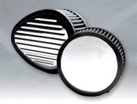 Cycle Smiths Round Grooved Air Cleaner for CV and EFI