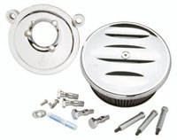 Arlen Ness Stage II Billet Sucker Kit for Twin Cam, Chrome Scalloped Cover